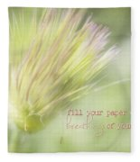 The Breathings Of Your Heart - Inspirational Art By Jordan Blackstone Fleece Blanket