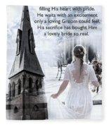 The Bride Of Christ Fleece Blanket