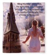 The Bride Of Christ Poem By Kathy Clark Fleece Blanket