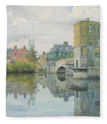 The Bridge At Saint Ives Fleece Blanket