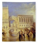 The Bridge Of Sighs Fleece Blanket