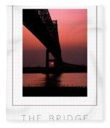 The Bridge Poster Fleece Blanket
