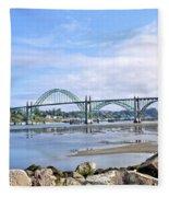 The Bridge To Old Town Fleece Blanket