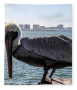 The Brown Pelican  Fleece Blanket
