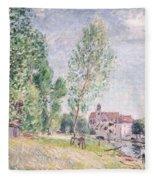 The Builder's Yard At Matrat Moret-sur-loing Fleece Blanket
