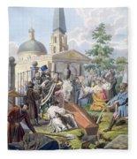 The Burial, 1812-13 Fleece Blanket