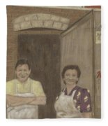 The Butcher And His Wife  Fleece Blanket