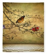 The Butterfly Room Fleece Blanket