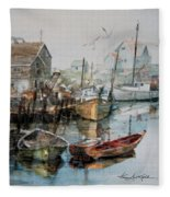 The B'y That Catches The Fish Fleece Blanket