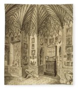 The Cabinet, Engraved By T. Morris Fleece Blanket