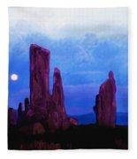 The Callanish Stones Scotland Fleece Blanket