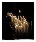 The Candles. Duomo. Milan Fleece Blanket