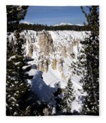 The Canyon In Winter Fleece Blanket