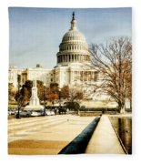 The Capitol Building Fleece Blanket