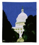 The Capitol  Fleece Blanket