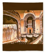 The Capitol Theater In Port Chester Ny Fleece Blanket