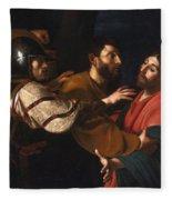 The Capture Of Christ Fleece Blanket