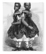 The Carolina Twins, 1866 Fleece Blanket