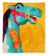 The Carousel Horse Fleece Blanket