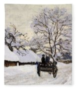The Carriage- The Road To Honfleur Under Snow Fleece Blanket