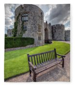 The Castle Bench Fleece Blanket