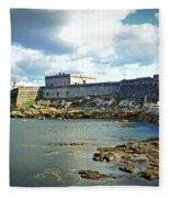 The Castle Fort On The Harbor Fleece Blanket