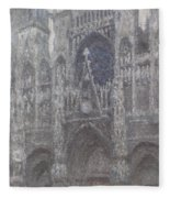 The Cathedral In Rouen Fleece Blanket
