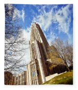 The Cathedral Of Learning 1 Fleece Blanket