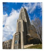 The Cathedral Of Learning 2g Fleece Blanket