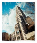 The Cathedral Of Learning 3 Fleece Blanket