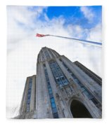 The Cathedral Of Learning 4 Fleece Blanket