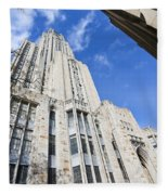 The Cathedral Of Learning 5 Fleece Blanket
