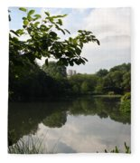 The Central Park Pond Fleece Blanket
