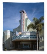 The Century Theatre In Ventura Fleece Blanket