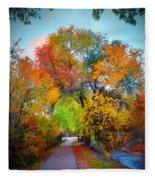 The Changing Tree Fleece Blanket