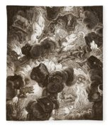 The Chaos, Engraved By Bernard Picart Fleece Blanket