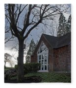 The Chapel At Eagle Point National Cemetery Fleece Blanket