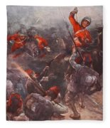 The Charge Of Drury Lowes Cavalry Fleece Blanket