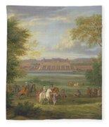 The Chateau Of Saint Germain Oil On Canvas Fleece Blanket
