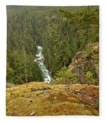 The Cheakamus River Gorge Fleece Blanket