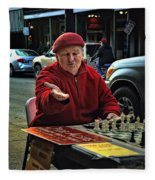 The Chess King Jude Acers Of The French Quarter Fleece Blanket