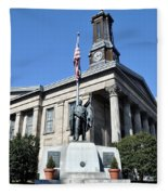 The Chester County Courthouse In West Chester Pa Fleece Blanket
