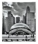 The Chicago Bean II Fleece Blanket