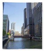 The Chicago River Fleece Blanket