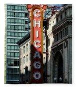 The Chicago Theatre Fleece Blanket