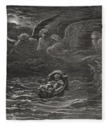 The Child Moses On The Nile Fleece Blanket