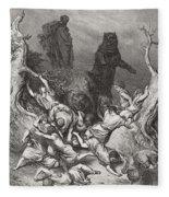 The Children Destroyed By Bears Fleece Blanket