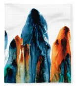 The Chosen Ones - Emotive Abstract Painting Fleece Blanket