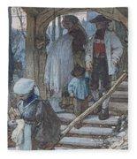 The Christening Gate In Lausanne, C.1861 Fleece Blanket