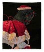 The Christmas Horse Fleece Blanket